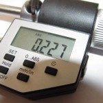 Показания на цифровом микрометре
