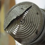 Крупный план отверстия под ммембраной датчика давления